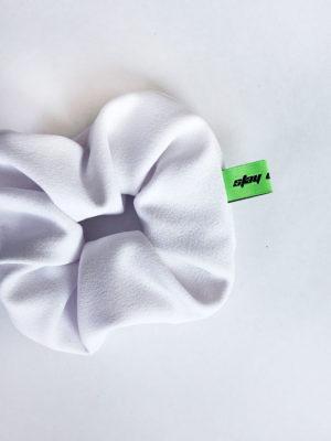 Scrunchie blanc