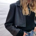 Veste noir cuir