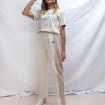 Pantalon + T-shirt beige